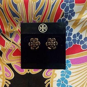 Tory Burch T Logo Stud Earrings